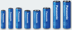 Panasonic Nickel Metall Hydrid Batterien
